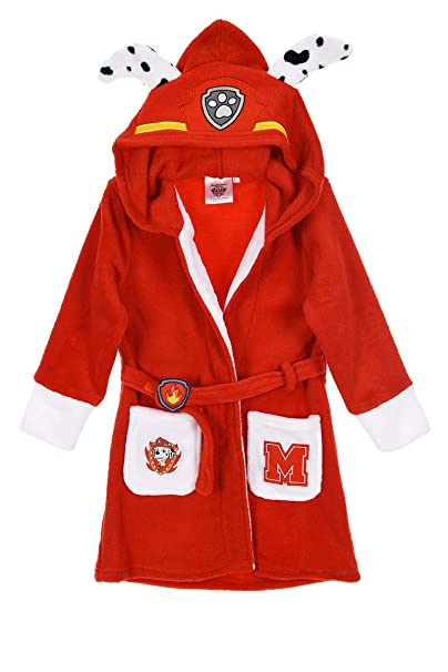 Amazon.com: Paw Patrol Chase and Marshall Dressing Gown with Hood ...