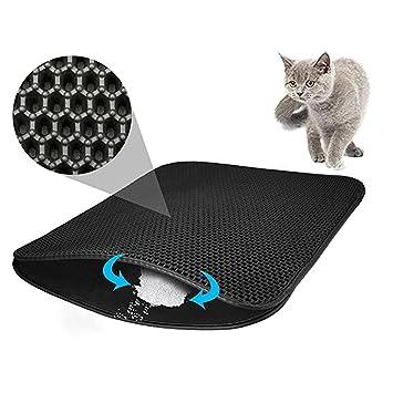 OCSOSO Colchoneta para gatos Estera de lujo de gran tamaño 56 x 71 cm doble capa ...