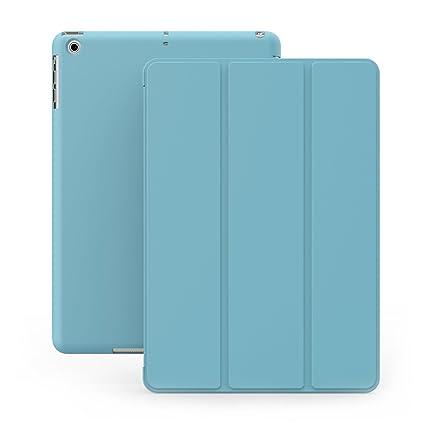 KHOMO Funda iPad Air 1 - Carcasa Azul Celeste Protectora Ultra Delgada y Ligéra con Smart Cover y Soporte para Apple iPad Air 1 - Dual Blue