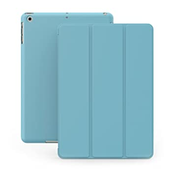 KHOMO Funda iPad Mini 1, 2, 3 - Carcasa Azul Celeste Ultra Delgada con Smart Cover para Apple iPad Mini, Mini 2 Retina, Mini 3 - Dual Blue