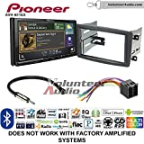 Volunteer Audio Pioneer AVH-601EX Double Din Radio Install Kit with CD/DVD Player Bluetooth USB/AUX Fits 2001-2004 Mercedes C Series