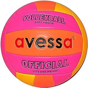 Avessa PVCY53 Avessa Fosforlu Voleybol Topu Unisex, çok renkli, Tek Beden