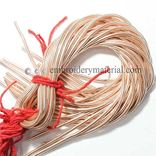 3mm French Metallic wire in Rose Golden Colour (5 Yard/Packet) (French Bullion Wire)