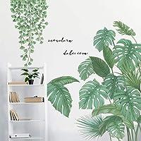 DIY Groene Planten Ginkgo Blad en Tropische Bladeren Muursticker VASZOLA Verwijderbare Waterdichte 3D Verse Bladeren…
