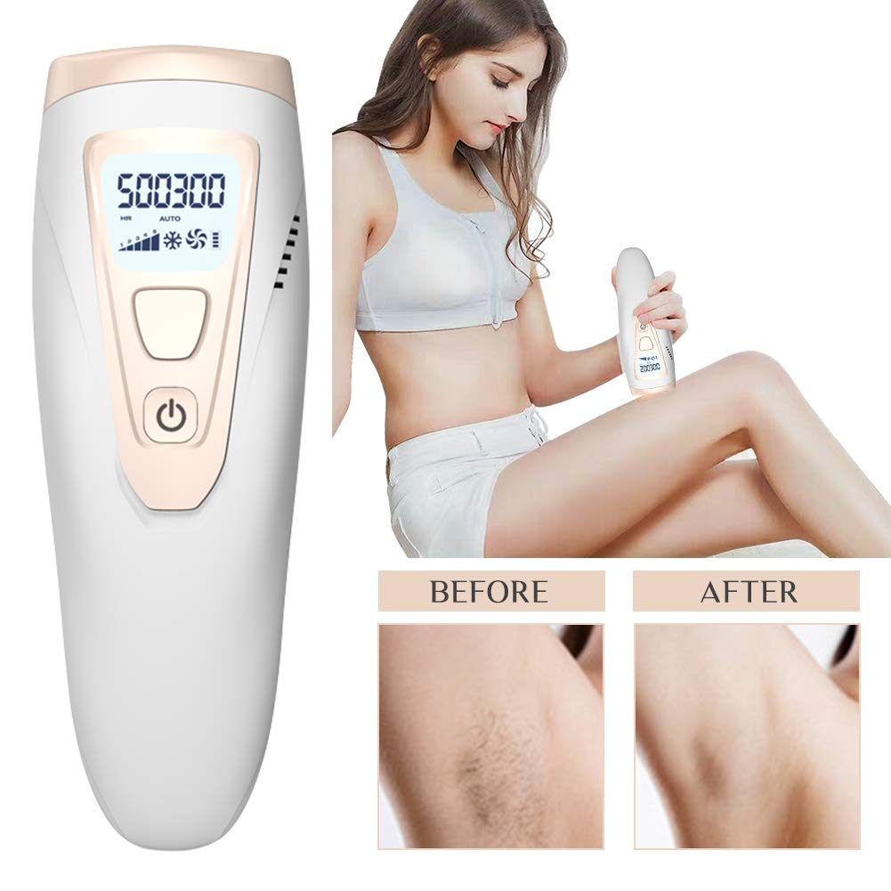 Facial Body Permanent Hair Removal, Permanent IPL Hair Removal Device for Women and Men, Permanent Hair Removal Device, 500,000 Flashes IPL Hair Removal System for Face and Body at Home