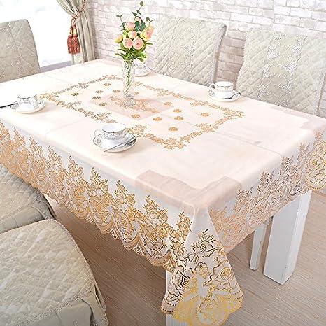SMAQZ Bronceado Mantel Mesa De Café Hueco Cojín Mantel ...