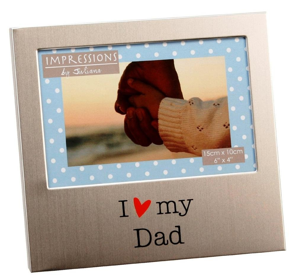 FA518D I Love My Dad Aluminium-Bilderrahmen, 15 x 10 cm: Amazon.de ...