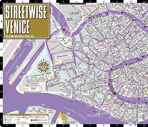 Streetwise Venice Map Laminated City Center Street Map Of Venice - Venice city map