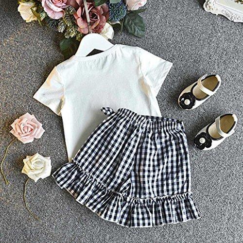 b4ccc0c296c96 Voberry® Ensembles Shorts et Haut Fille, Infantile Enfants Bébé Vêtements  Filles Été Chemise de