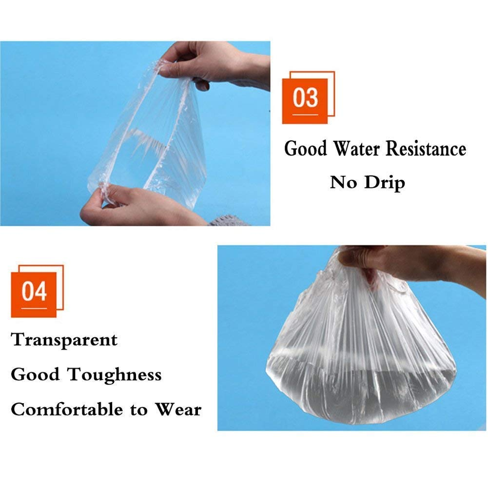 Aquior Shower Cap Disposable, 130 PCS Shower caps Large&Thick Waterproof Clear Plastic Elastic Hair Bath Caps For Women Kids Girls, Hotel and Hair Solon, Travel Spa, Home Use : Beauty