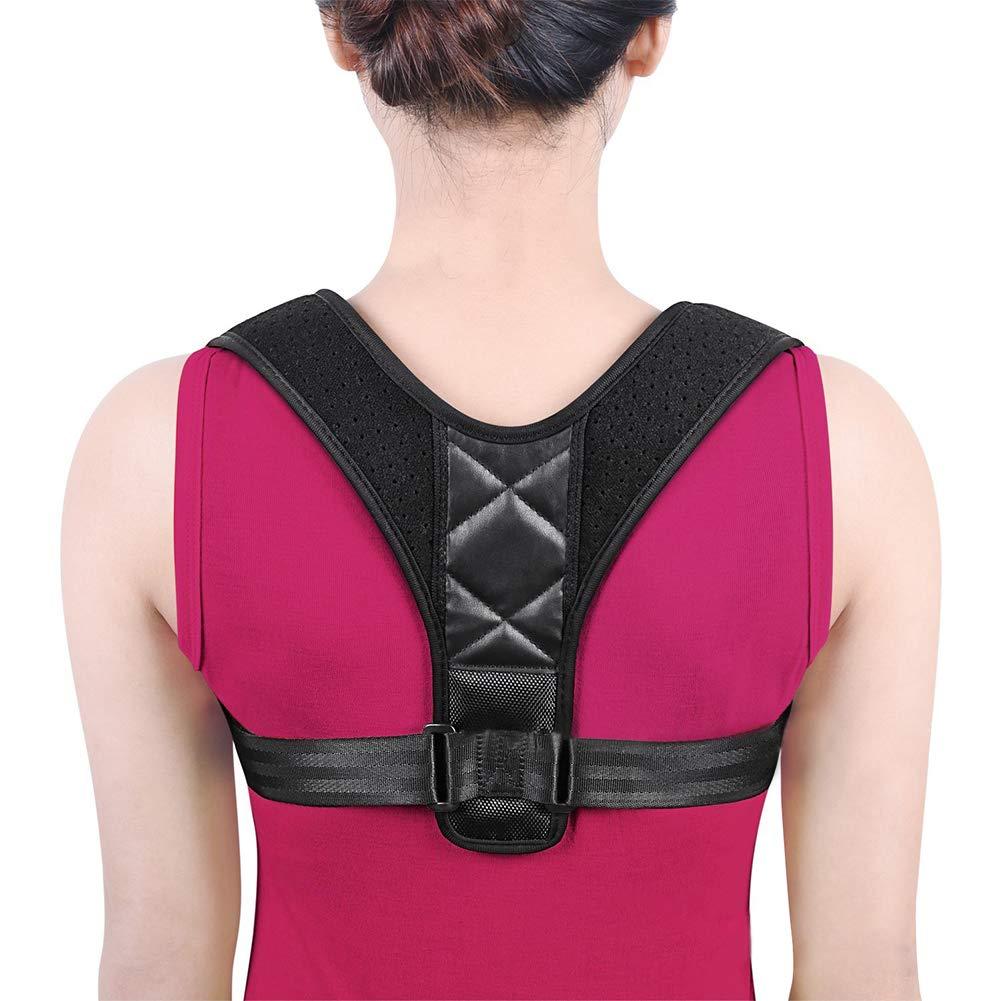 Posture Corrector, Adjustable Shoulder Brace Clavicle Support to Improve Bad Posture, Thoracic Kyphosis, Shoulder Alignment, Upper Back Pain Relief for Men and Women