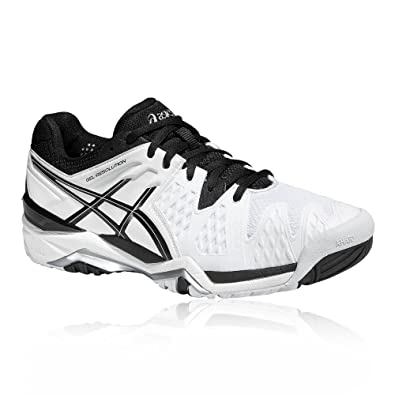 72e09ae9901ce ASICS Gel-Resolution 6 Court Shoes White  Amazon.co.uk  Shoes   Bags
