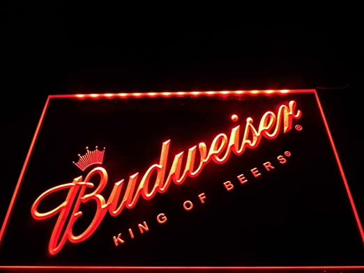 Budweiser LED Caracteres Publicidad Neon Cartel Rojo: Amazon ...