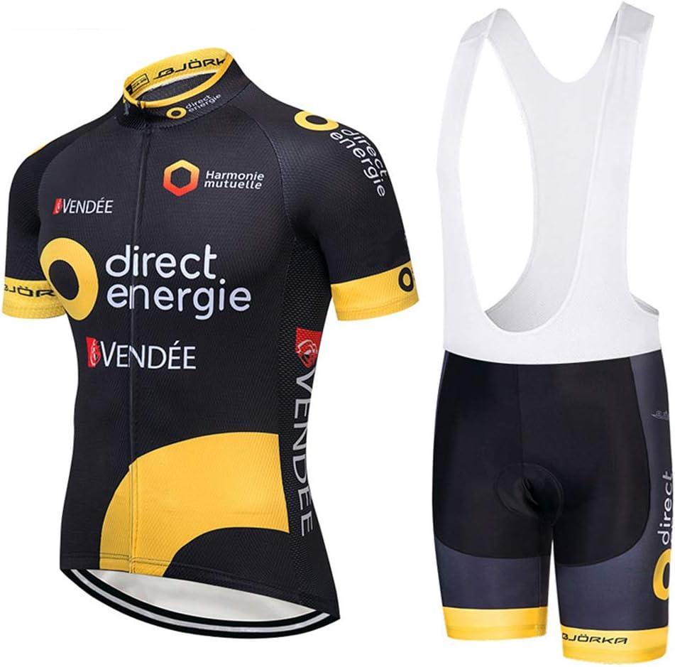 Cuissard Rembourr/é Gel Tenue V/élo Respirant Combinaison VTT ZEMER Maillot Cyclisme Homme Pro V/êtement Cycliste