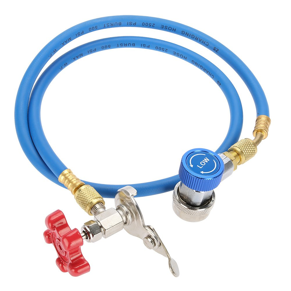 Acouto R134a Refrigerant Recharge Hose Gas Can Fitting Pipe Can Tap for R502 R-12 R-22 Refrigerant