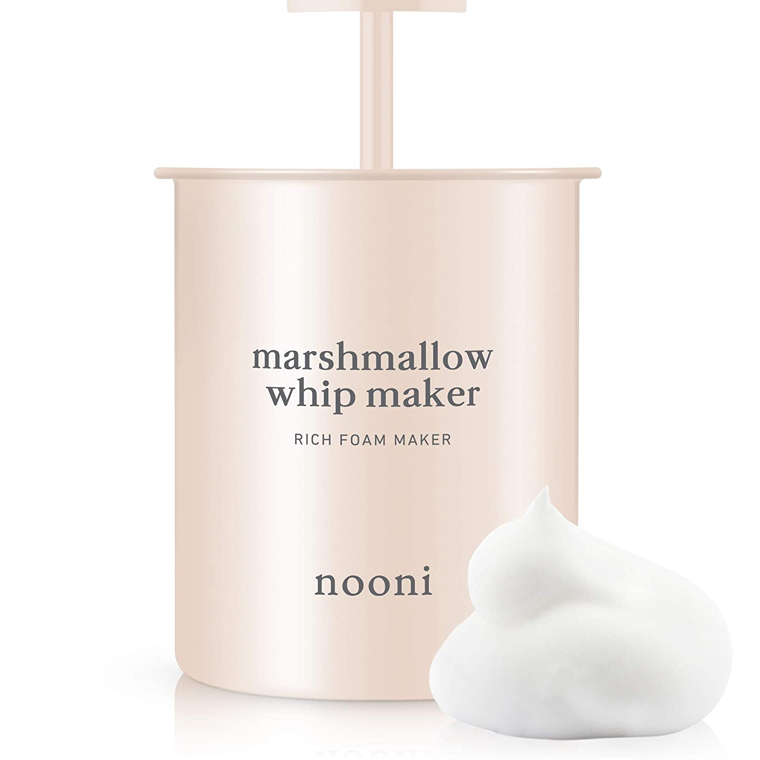 NOONI Marshmallow Whip Maker | Rich Foam Maker for Face Wash | Korean Skincare Tools
