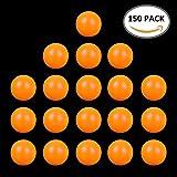 Unbekannt Tischtennisbälle für Training 40mm,Weiß-Orange, 150 Stück, Sehr Gut Qualität.