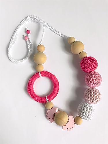 Collana Per Allattamento Catenella Porta Ciuccio Con Perline