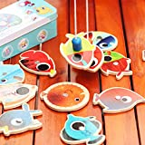 Qiyun Magnetic Wooden Fishing Game Playset with 14 - Best Reviews Guide