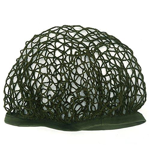 (Acogedor Helmet Net Army Green Nylon Helmet Camouflage Net Cover for M1 M35 M88 MK1 MK2 Helmet)
