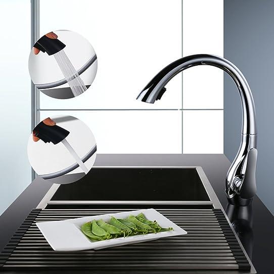 homelody robinet mitigeur de cuisine avec douchette extractible 2 ... - Mitigeur Cuisine Avec Douchette Extractible