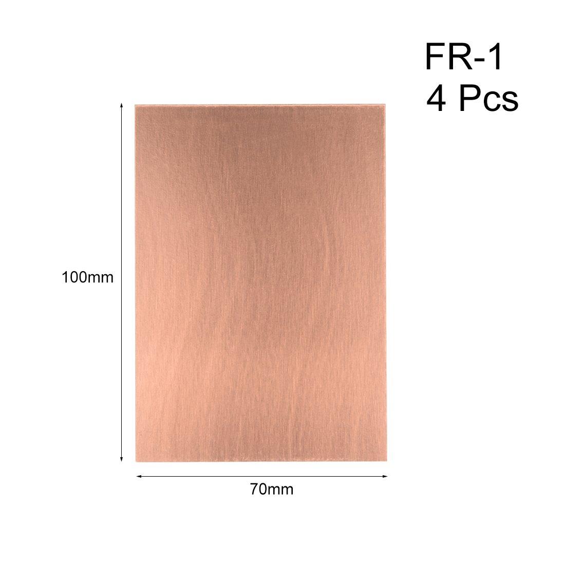 sourcing map 7X10cm cuivre simple face stratifi/é Rev/êtement PCB Carte circuit 15pcs