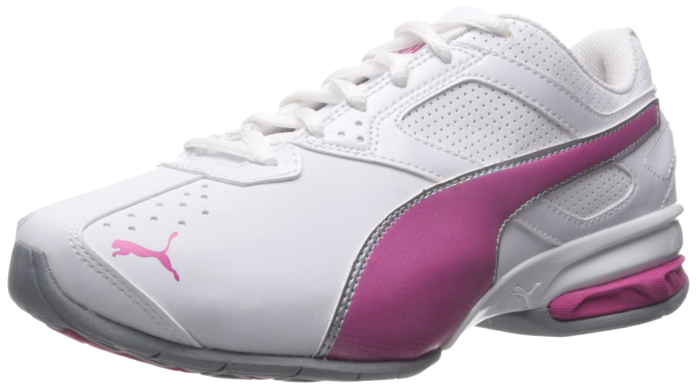 PUMA Women's Tazon 6 WN's fm Cross-Trainer Shoe, White/Fuchsia Purple Silver, 5.5 M US