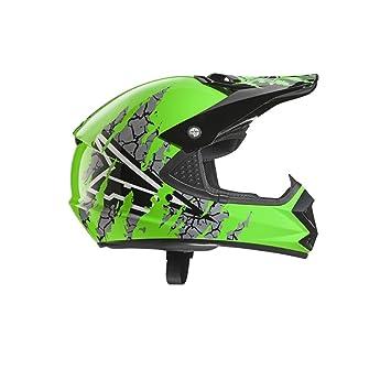 AXO Casco Ninja, verde, talla YM