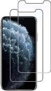 واقي شاشه زجاجي ايفون 11 برو ماكس, ايفون XS ماكس , ماركة سبايجن , استكر زجاج , تصميم جلاستر إي زد , 2 حبتين