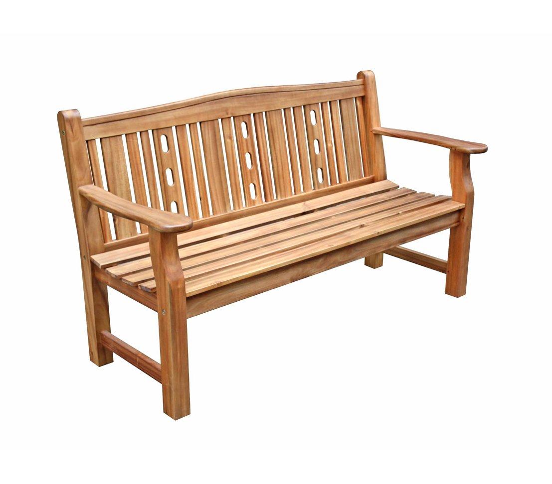 Dehner Gartenbank Bristol, 3-Sitzer, ca. 157 x 69 x 20 cm, FSC Akazienholz, natur