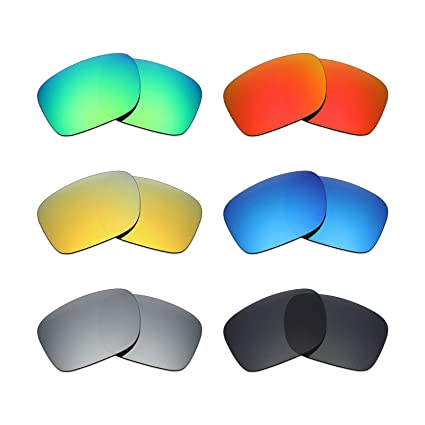 932a9b8227 Image Unavailable. Image not available for. Color  Mryok 6 Pair Polarized  Replacement Lenses for Oakley Holbrook Sunglass - Stealth Black Fire Red