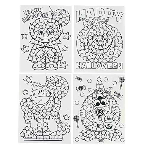 Fun Express - Halloween Dot Activity Sheet(2dz/pbh) for Halloween - Stationery - Activity Books - Coloring Books - Halloween - 144 Pieces -
