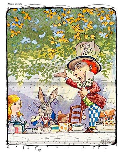 8x10 Inch Alice in Wonderland Decor,
