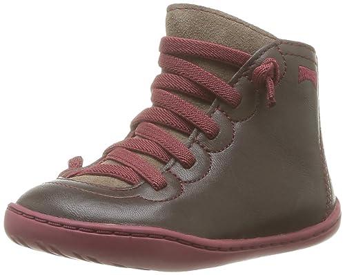 Camper 90179 - Zapatos de charol para niños, color marrón, talla 19