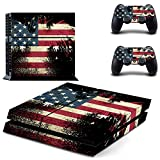 Gebaisi Vinyl Skin Sticker Protector for Sony Playstation 4 PS4 Console and Controller Fade Battle Torn Stripes