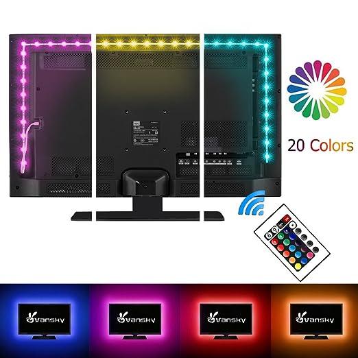led tv backlight vansky bias lighting for hdtv usb powered with 2m