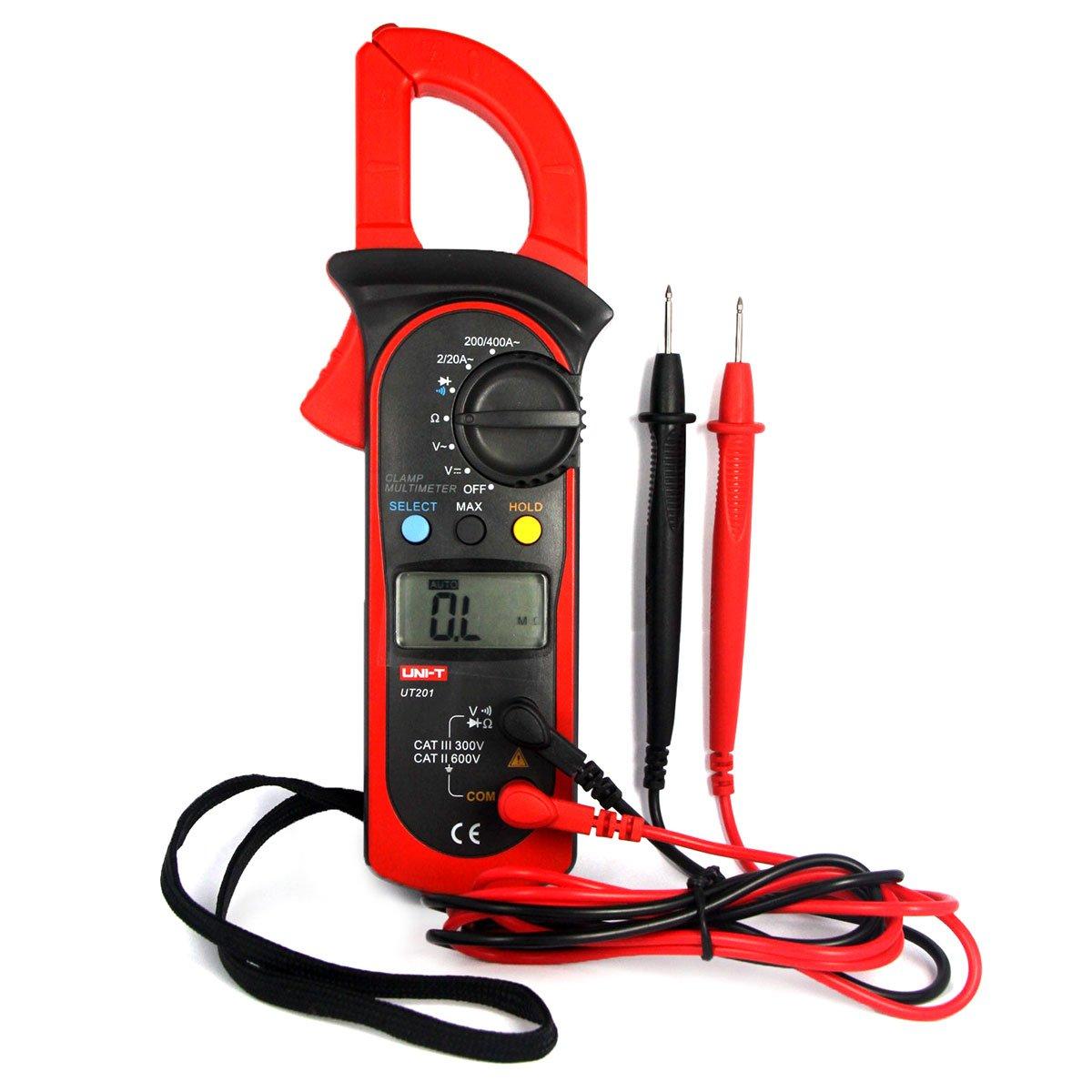 UNI-T UT210D Digital-Multimeter Messgerä t Strommesszange AC/DC Strom Zange Spannung Amperemeter Widerstand Capacitance Temperature Messung Automatische Reichweite Proam AA-NK0009