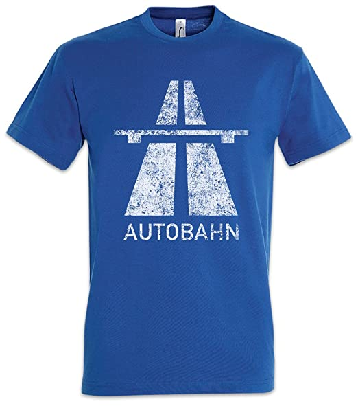 Urban Backwoods Autobahn T-Shirt – Allemagne autoroute Kraftwerk Sign Logo  Highway Elektro Electro 80s Eighties Techno A German Deutschland Brücke