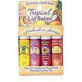 Island Soap & Candle Works, Lip Balm Sticks, Convenient 4-pack