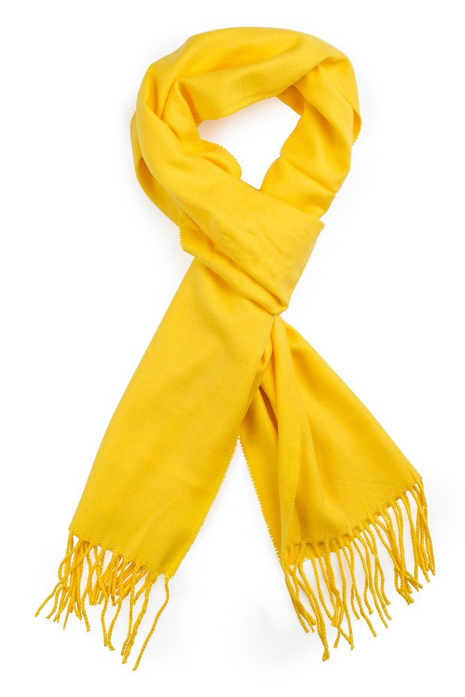 Plum Feathers Super Soft Luxurious Cashmere Feel Winter Scarf (Yellow)