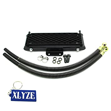 XLYZE M10x1.25 Enfriador de aceite de radiador de alto flujo para 125cc 140cc 149cc