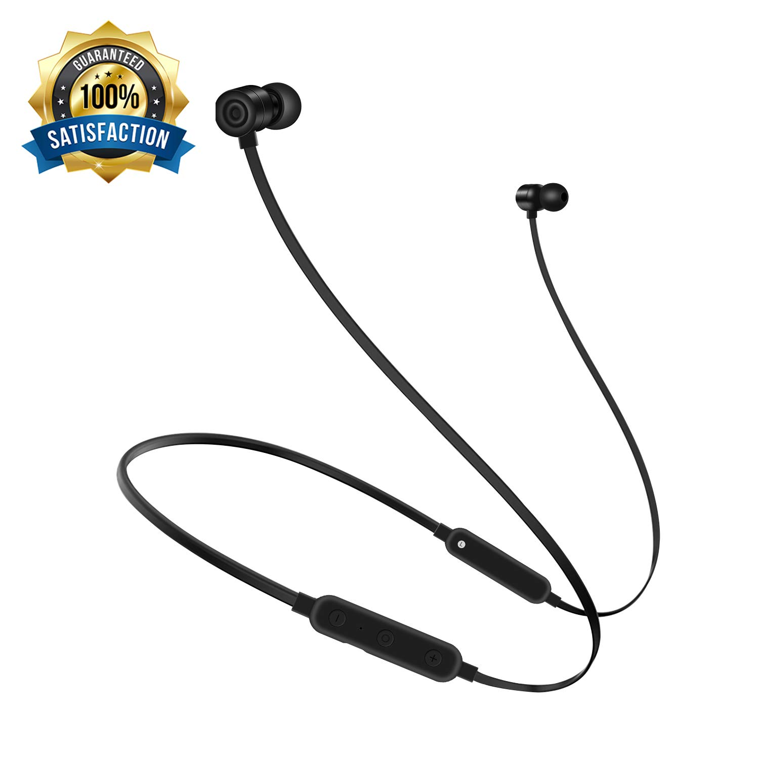 Bullker Upgrade 2018 Bluetooth Earphones, Neckband Bluetooth Headphones, Magnetic Wireless Earphones Without Pain Suitable for All Ears, Ultra-Long Play Music Time Sports Earphones for iOS Android