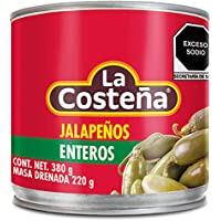 La Costeña Chile Jalapeño Entero, 380 gr