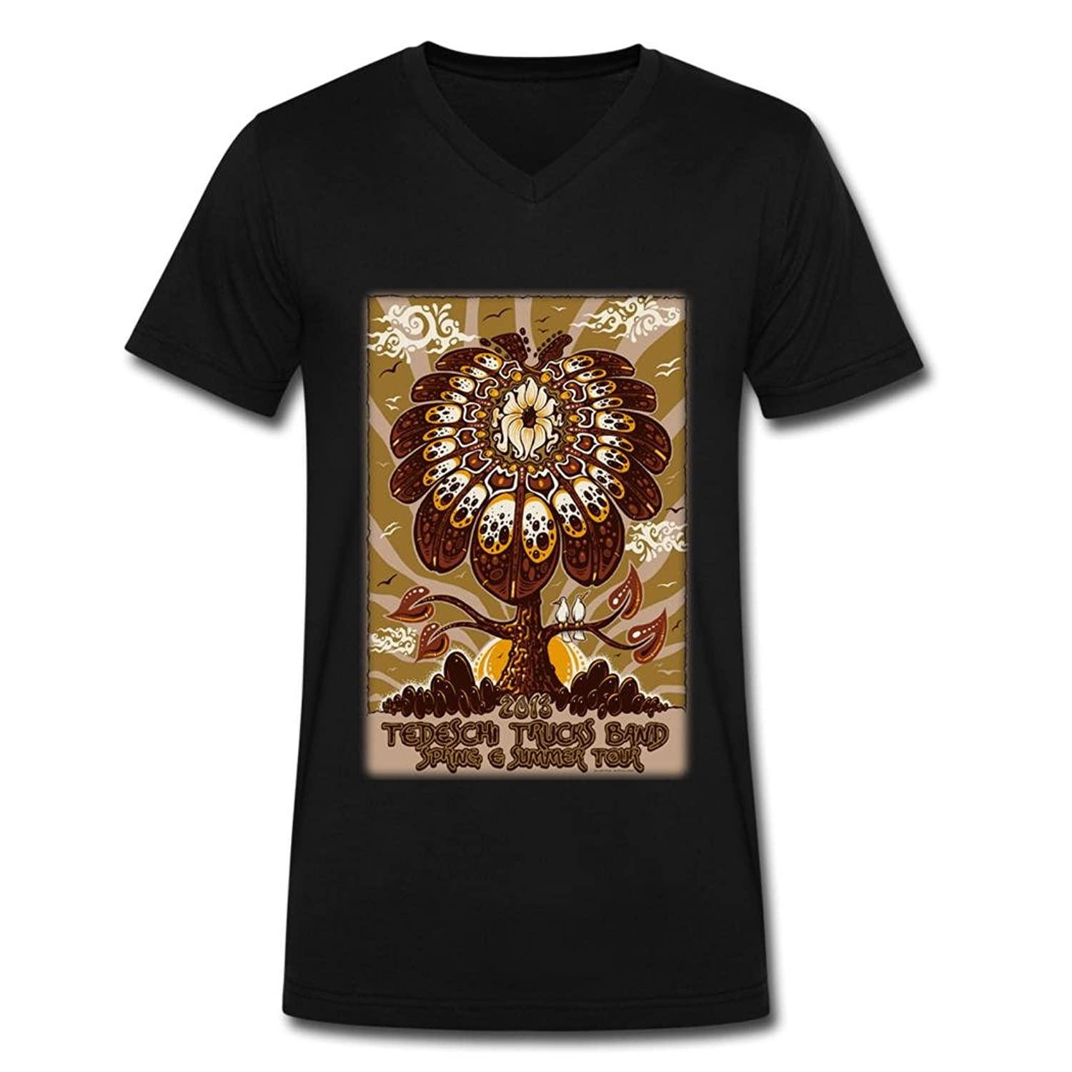 HL 2016 fashion tedeschi trucks popular poster tee shirt for men Black