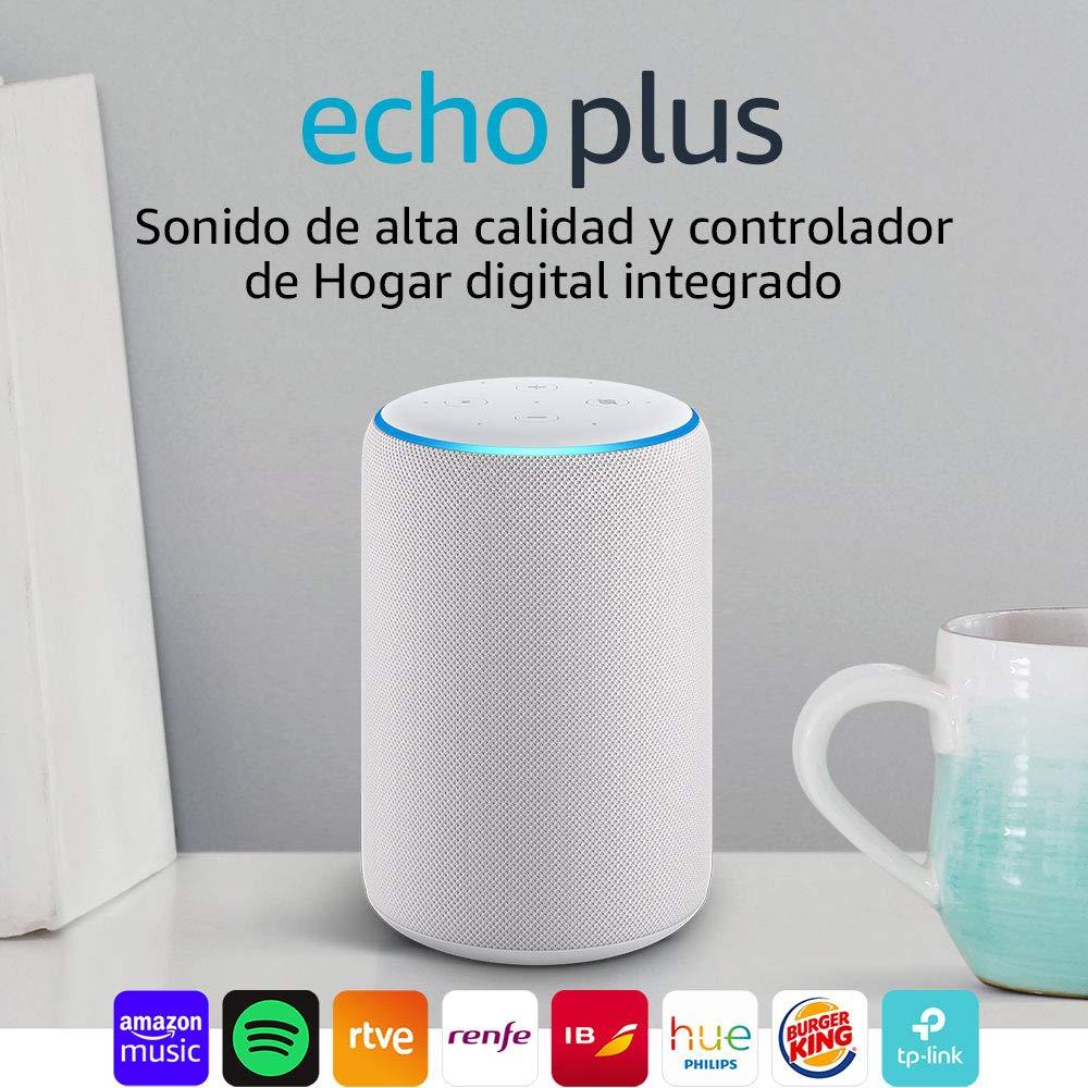 Echo Plus (2.ª generación), tela de color gris claro +...