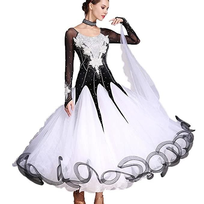 Amazon.com: YULIN mujeres Vals moderno baile vestidos gran ...