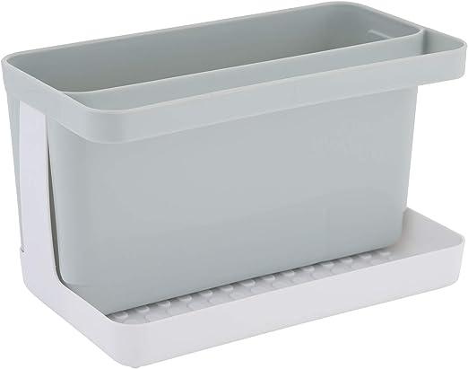 axentia Caddy Organizador de Fregadero 20.5 x 12.5 x 11.5 cm Gris//Blanco Aprox