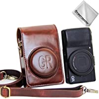 First2savvv Dark Brown Premium Quality Full Body Precise Fit PU Leather Digital Camera case Bag Cover for Ricoh GR II GR - XJD-GRII-10G11