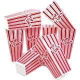 Popcorn Containers, Plastic Red & White Classic Movie Popcorn Containers, by Playscene (Quantity 8, Red & White)