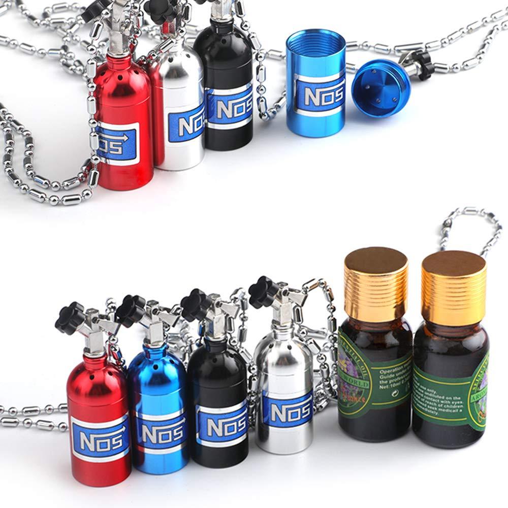 YGMONER Ciondolo a Forma di Bottiglia di azoto per specchietto retrovisore per Auto diffusore per aromaterapia